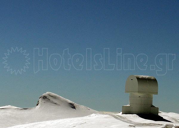 Το τηλεσκόπιο Αρίσταρχος στην κορυφή του Χελμού