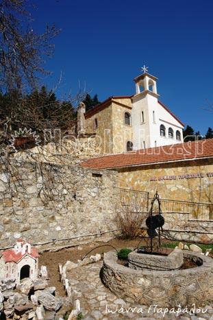 Μονή Αγίου Βλασίου στα υψίπεδα της Ζήρειας μετά τα Ανω Τρίκαλα