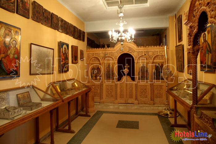 Ο χώρος του μουσείου της Μονής
