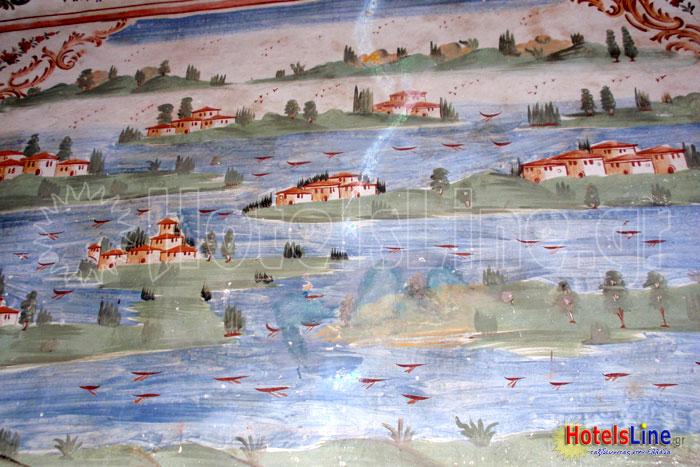 Τοιχογραφία με θέμα ένα νοσταλγικό τοπίο της Κωνσταντινούπολης