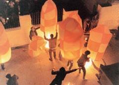 Το έθιμο τω Αερόστατων στο Λεωνίδιο Αρκαδίας