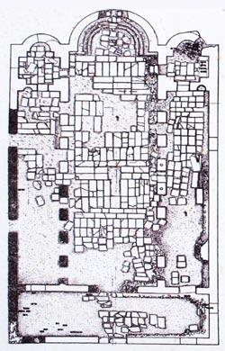 Σχεδιάγραμμα της Βασιλικής του Αγίου Αχιλλείου 10 ος αι.