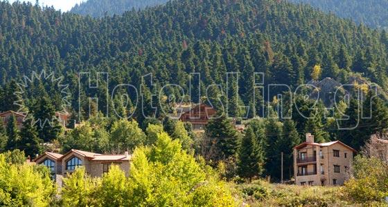 Επτάλοφος - Αγόριανη. Αποψη του χωριού κυριολεκτικά πνιγμένο στο πράσινο