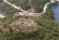 Βυζαντινό οχυρό στην κορυφή του Βόρειου Λόφου