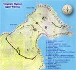 Διάγραμμα αρχαιολογικών χώρων αρχαίων Σταγείρων