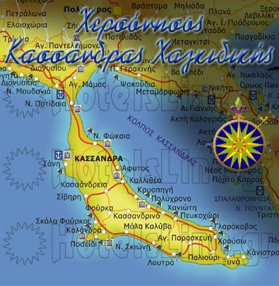 Χάρτης Κασσάνδρας Χαλκιδικής