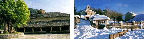 Στην αριστερή εικόνα, ο Αγιος Τρύφωνας Βίκου και στην δεξιά, ο Αγιος Αθανάσιος (αριστερά) και ο Αγιος Μηνάς Μονοδενδρίου (δεξιά)