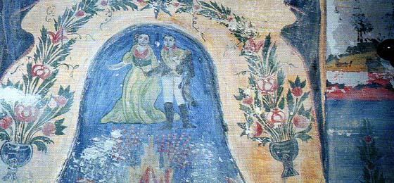 Τοιχογραφία με το Μέγα Ναπολέοντα στο εσωτερικό αρχοντικού στο Ζαγόρι