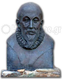 Δομήνικος Θεοτοκόπουλος - El Greco. Η προτομή του στην είσοδο του Μουσείου στο Φόδελε