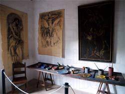 Δομήνικος Θεοτοκόπουλος - El Greco. Αναπαράσταση εργαστηρίου ζωγραφικής σε αίθουσα του Μουσείου στο Φόδελε