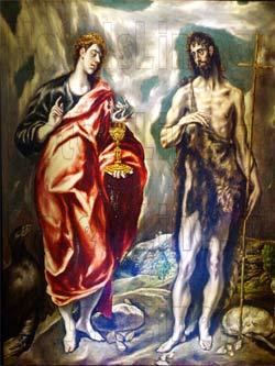 Αντίγραφο έργου του Δομήνικου Θεοτοκόπουλου - El Greco, στο Μουσείο στο Φόδελε σε μορφή slide