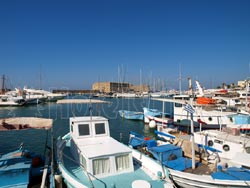 ΗHeraklion, Crete. The picturesque port
