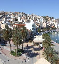 Πανοραμική άποψη του Αγίου Νικολάου στην Κρήτη