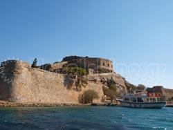 The Spinalonga island in Crete