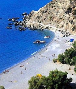 Η παραλία της Αγίας Φωτιάς στην Κρήτη