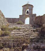 Το καμπαναριό της εκκλησίας της Αγίας Μαύρας στο Κάστρο