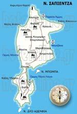 Map of Sapientza Island