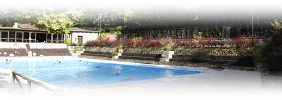 Εξωτερική πισίνα στα Λουτρά Πόζαρ - Λουτρακίου