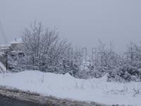 Αποψη από το χιονισμένο Ελατοχώρι