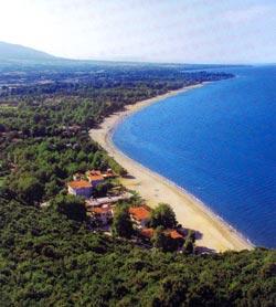 Πιερία, η παραλία Παντελεήμονα  από το κάστρο.