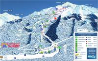 Σχεδιάγραμμα πιστών και αναβατήρων χιονοδρομικού κέντρου Ελατοχωρίου