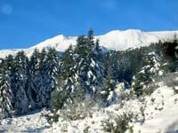 Χιονισμένο τοπίο από την περιοχή του Περτουλίου