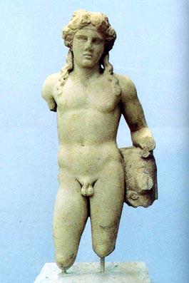 Φθιώτιδα Ρωμαϊκό αγαλμάτιο νεαρού  Διονύσου από τη Στυλίδα (β' μισό 2ου αι. έως αρχές 3ου αι. μ.Χ.,  (Αρχαιολογικό Μουσείο Λαμίας)
