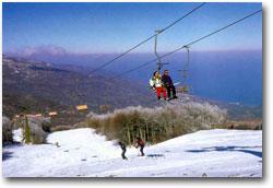 Πήλιο, Χάνια Χιονοδρομικό κέντρο